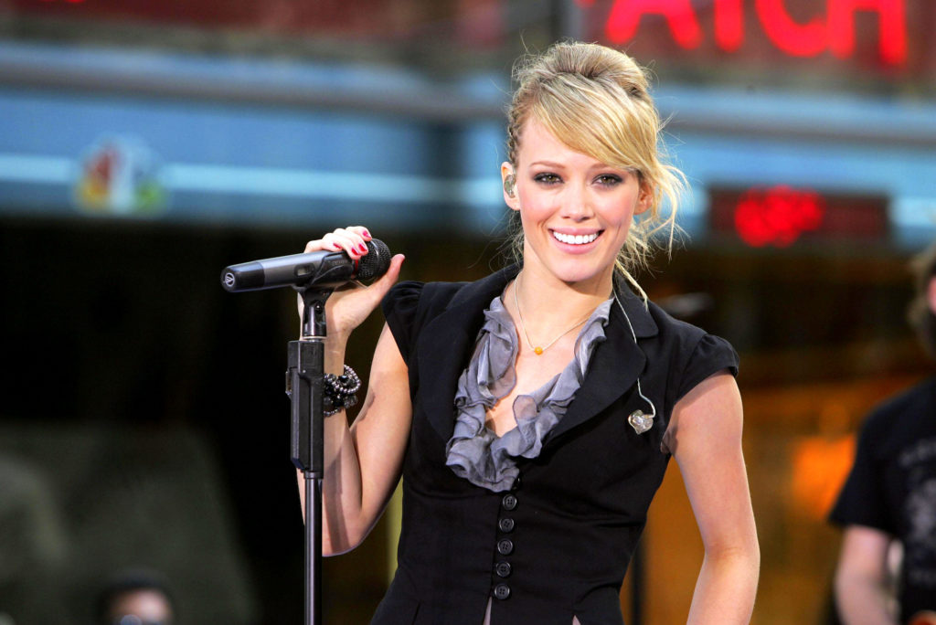 Hilary Duff onstage for NBCs Today Show