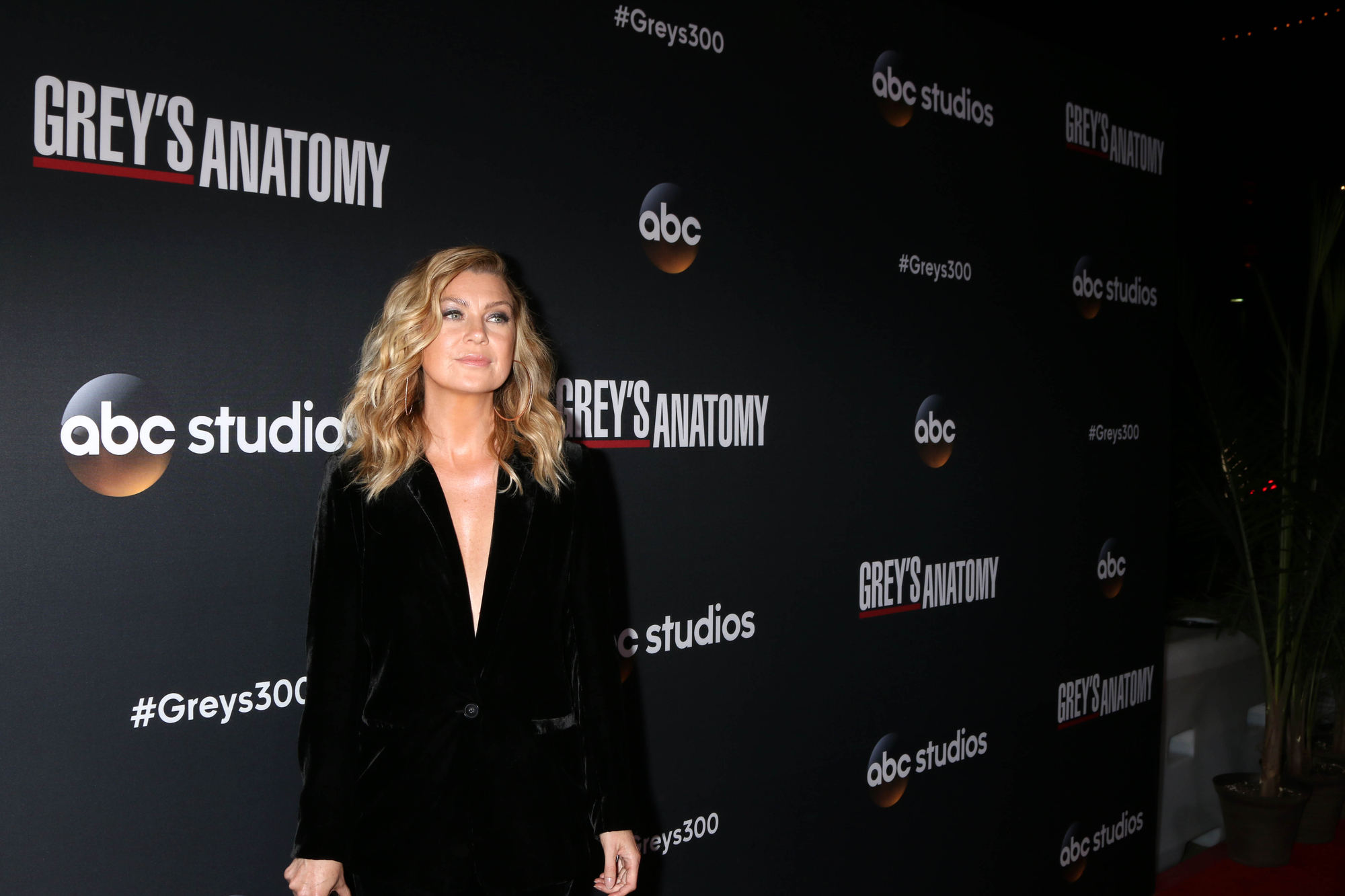 Ellen Pompeo at the Grey's Anatomy 300th episode event in Los angeles